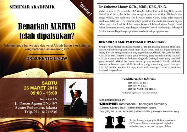 Seminar ALKITAB 2016